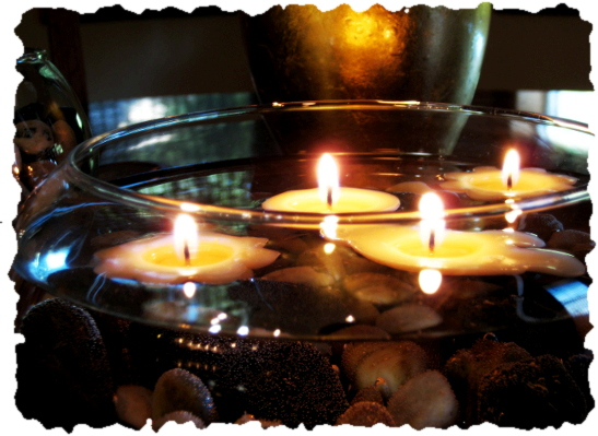 Floating Candles Centerpiece