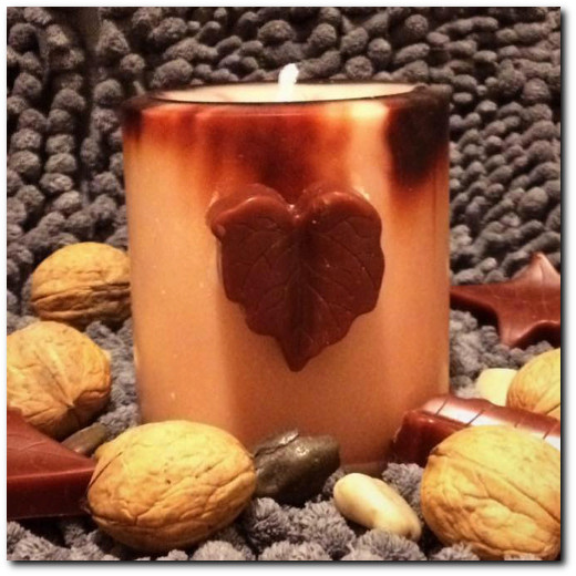 Fall theme Soy Wax Pillar Candle