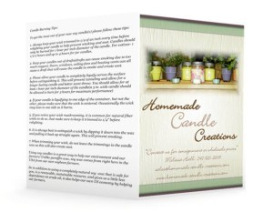Candle Brochure Idea-Outside Single Fold