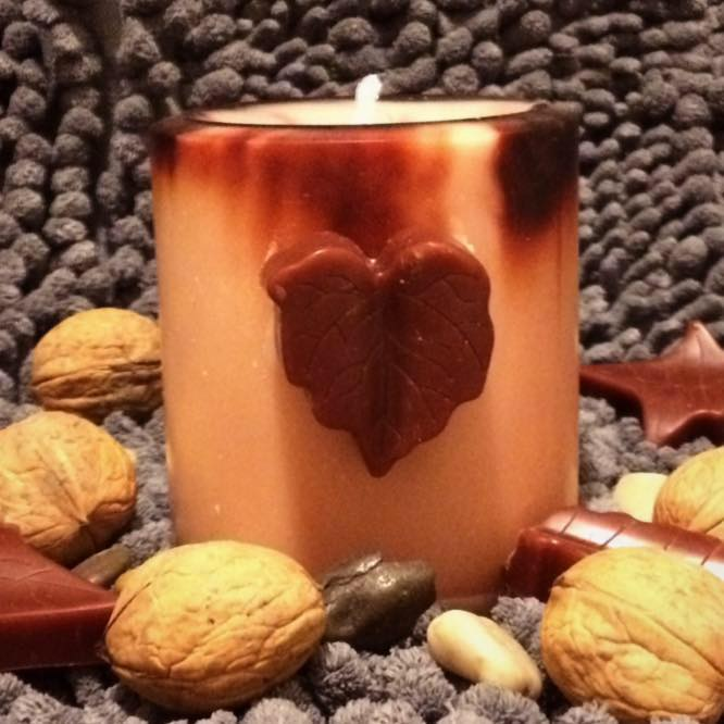 Decorative Fall Soy Pillar Candle