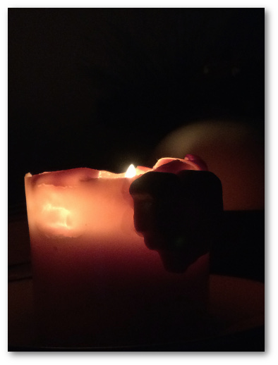 Soy pillar candle burning