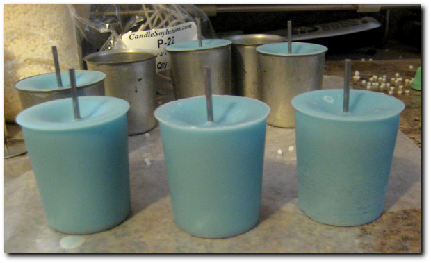 Soy Wax Votives made with P-100 soy wax